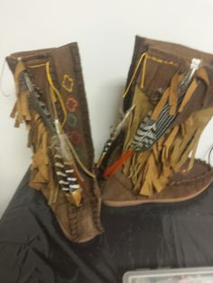 Feather  fairy boots.