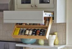 Swing-Down Spice Rack