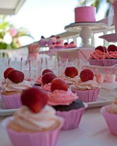 Beautiful cupcakes and cake shot