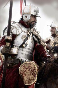 The Sarmatian Soul: Wild Yearning — Portrait of a Polish nobleman. Larp Armor, Medieval Armor, Medieval Fantasy, Military Art, Military History, Battle Of Vienna, Polish Tattoos, Knights Templar, Fantasy Warrior