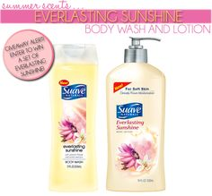 Suave Everlasting Sunshine Body Wash and Lotion - #Giveaway Announcement #beauty