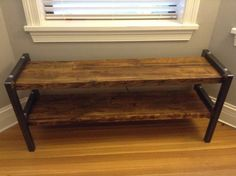 Reclaimed Wood and Metal Bench Bota Bench by WageofLabor on Etsy