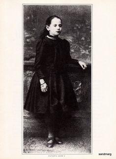 Anna Pavlova Russian Ballerina Nine Years Old