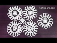Crochet motif tutorial VERY EASY Crochet motifs for beginners Thread Crochet, Crochet Doilies, Easy Crochet, Crochet Stitches, Crochet Flower Patterns, Crochet Flowers, Crochet Flower Tutorial, Hand Embroidery Flowers, Square