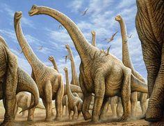 Brachiosaurus Herd mural by Phil Wilson