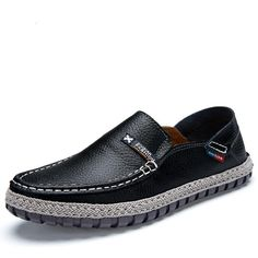 Fashion Men Loafers Brand Calzado Hombre Shoes Spring 2015 Sapatos Masculino Casual Loafers Size 38 to 44 Black White Brown