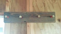 Shotshell coat rack 100 year old barnwood