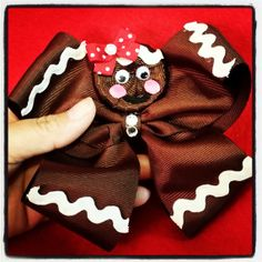 Gingerbread  Hair Bow by CourtneyLoveBoutique on Etsy, $10.00