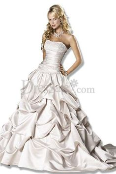 Cinderella Wedding Dress Features Satin Pick-up Highlight