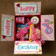 Christmas present for Brrrriii Birthday Box, Friend Birthday Gifts, Best Friend Gifts, Craft Gifts, Diy Gifts, Birthday Care Packages, Diy Cadeau, Party In A Box, Happy B Day