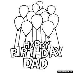 Happy Birthday Daddy Printable Birthday Card Happy Birthday Dad ...