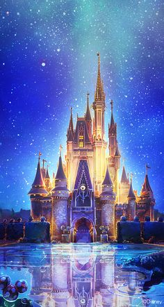 Disney Castle Disney Disney World Disneyland Disney Pixar, Disney Parks, Disney E Dreamworks, World Disney, Art Disney, Disney Kunst, Disney Films, Disney Magic, Disney Worlds