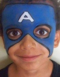 DIY Captain America Face Paint - Super Hero Birthday Party