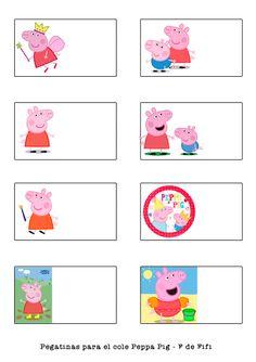 Blog F de Fifi: manualidades, imprimibles y decoración: Pegatinas gratis de Super Heroes y Peppa Pig para la vuelta al cole