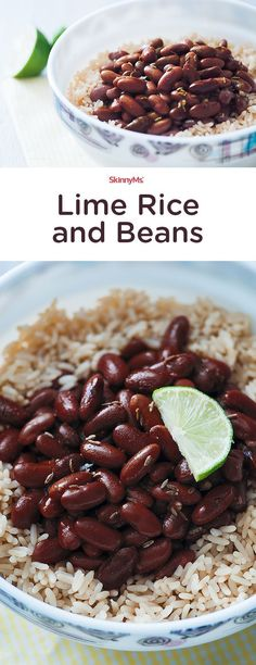 """This Lime Rice and Beans dish is """"oh so delish!"""" #rice #beans #delish"""