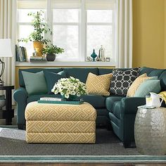 Love the colors in this room and like the sectional for our bonus room.  L-Shaped Sectional from Bassett