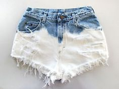 DIY - Bleach the bottom half of your denim shorts for a more unique distressed look