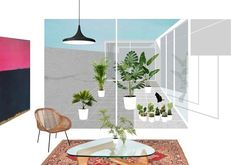 Home Decoration Living Room Architecture Collage, Architecture Graphics, Architecture Visualization, Architecture Drawings, Architecture Plan, Collages, Photomontage, Photoshop, Presentation Styles