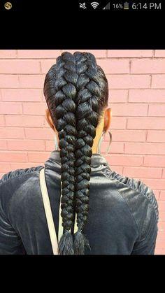 Double braids mohawk
