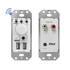 Pyle PWPBT67 InWall Bluetooth Audio Receiver Dual USB Device Charger and Aux Input for Sound Systems ** Want to know more, click on the image.Note:It is affiliate link to Amazon. #washington