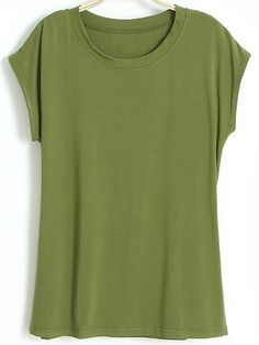 Solid Color Leisure Short Sleeve T-Shirt For Women