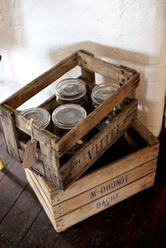 We sell lots of these beautiful French antique crates here at deVOL's Cotes Mill showrooms.