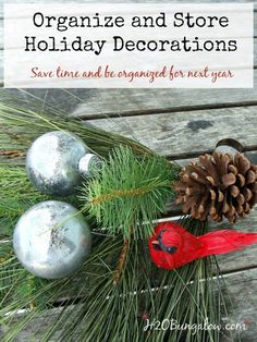 Use these tips to organize and store holiday decorations. My simple guide on how to pack holiday decorations away quickly and in an organized method. All Things Christmas, Christmas Holidays, Christmas Bulbs, Christmas Ideas, Holiday Ideas, Celebrating Christmas, Happy Holidays, Merry Christmas, Next Year