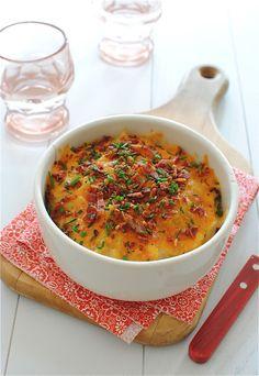 Slow Cooker Baked Potato Casserole / Bev Cooks