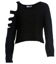 Slash Sweater-Super soft fabric with cool slashed shoulder detail.