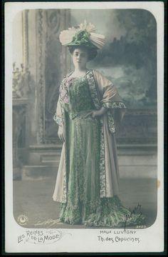 Luvigny Theater theatre fashion Edwardian lady original 1910s photo postcard | Collectibles, Postcards, People | eBay!
