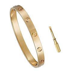 looks like the Cartier love bracelet Gold Plated Bracelets, Love Bracelets, Cartier Love Bracelet, Bangle Bracelets, Diamond Bracelets, Silver Bracelets, Diamond Choker, Gold Bangles, Pandora