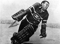 "Lorne ""Gump"" Worsley, narrowly missing taking one on the chin. Hockey Shot, Men's Hockey, Hockey World, Ice Hockey Teams, Hockey Games, Hockey Players, Montreal Canadiens, Nhl, Boston Bruins Hockey"