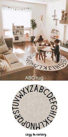 Living Room Playroom, Toddler Playroom, Room Kids, Kids Playroom Rugs, Kids Playroom Storage, Toddler Play Area, Playroom Flooring, Ikea Toy Storage, Small Playroom