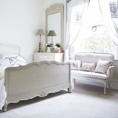 French-inspired country bedroom | White bedroom | housetohome.co.uk by DaisyCombridge