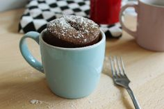 Chocolate Mug Cake - Joy Bauer Chocolate Mug Cakes, Vegan Chocolate, Chocolate Chips, Food Cakes, Vegan Mug Cake, Joy Bauer Recipes, Dessert In A Mug, Three Ingredient Recipes, Cake Mug