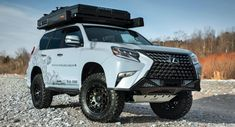 Based on the 2020 Lexus GX 460 Executive Package, this luxurious explorer packs many off-road upgrades. Lexus Suv, Lexus Gx 460, New Lexus, Lexus Cars, Mo Vlogs, Jeep Unlimited, Suv Camper, Gasoline Engine, Automotive News