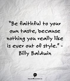 Quote From Billy Baldwin