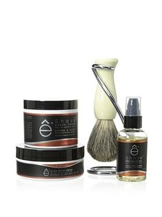 50% OFF eShave 4-Piece Collection with Twist Stand in Almond Scent, White