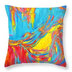"Entangled No 5 Right Side Throw Pillow 14"" x 14""  #throwpillow #homedecor"