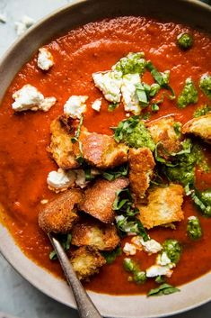 Bold, bright and a little smoky, this roasted red pepper and tomato soup recipe is easy to make and easy to love!