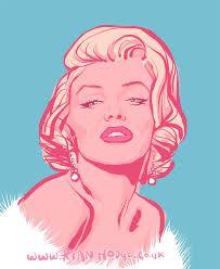 Αποτέλεσμα εικόνας για marilyn monroe  illustration