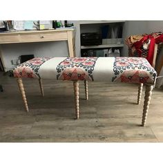 Handmade bench stool – Clare Laughland at Home Bench Stool, Vanity Bench, Interior, Fabric, Lime, Handmade, Delivery, Furniture, Happy