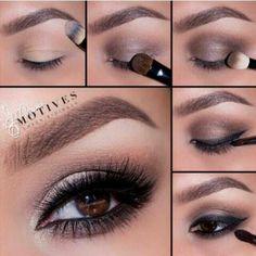 make-up beauty brown Unique Makeup, Cute Makeup, Diy Makeup, Makeup Tips, Eye Makeup Steps, Smokey Eye Makeup, Eyeshadow Makeup, Makeup Pictorial, Tips Belleza