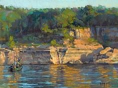 A Good Spot by Robert Rohm Pastel ~ 18 x 24 Pastel Artwork, Oil Pastel Art, Pastel Drawing, Pastel Landscape, Landscape Art, Landscape Paintings, Landscapes, Paintings I Love, Seascape Paintings
