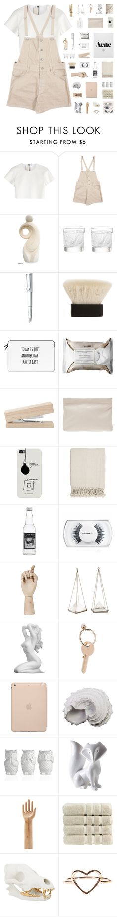 """""""and the simple life (ainsley's set challenge day 5)"""" by iced-lemons ❤ liked on Polyvore featuring Neil Barrett, NOVICA, Lalique, Lamy, Claudio Riaz, Casetify, Korres, Acne Studios, Surya and MAC Cosmetics"""