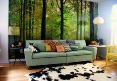 Green furniture for living room