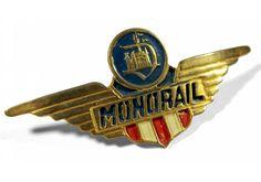 Original Monorail pilot's hat badge.