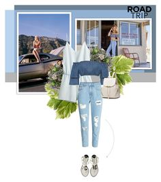 """Holiday vibes"" by yekyugasm on Polyvore featuring Chanel, H&M, WearAll, denim, Blue, holiday and roadtrip"
