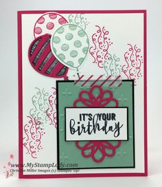 Stampin' Up! Balloon Adventures handmade birthday card find supplies at www.shopwithmystamplady.com