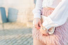 IMG_1890 - Olivia Poncelet Fashion blog Pastel look feather skirt tommy hilfiger party outfit